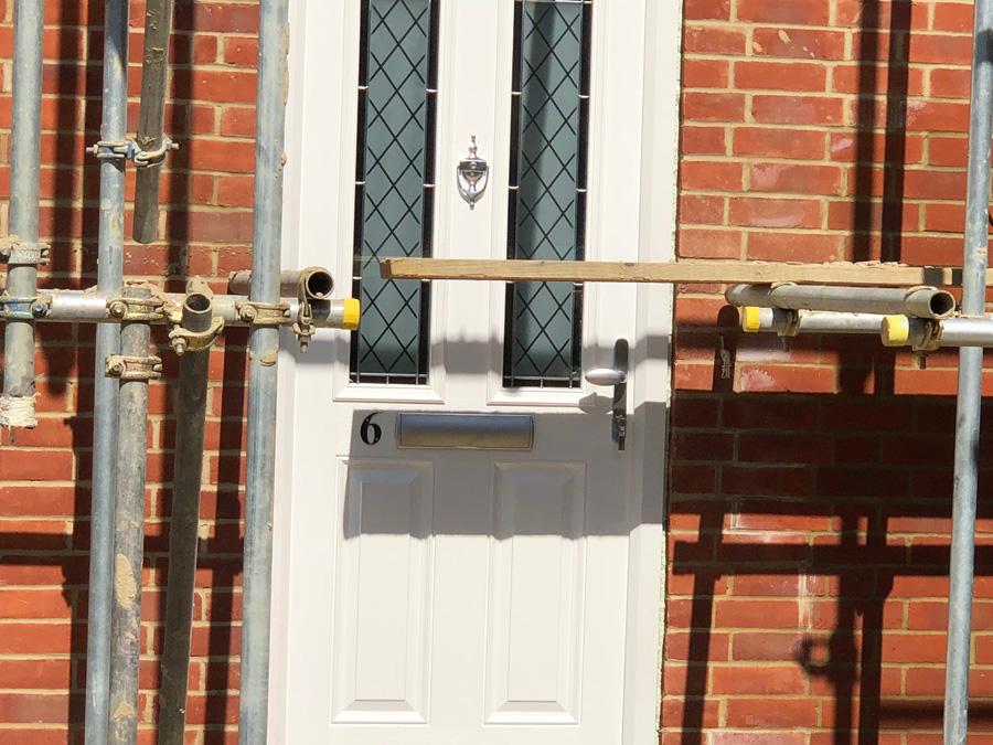 Main doors installed